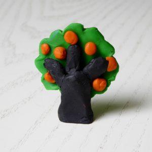 Baum aus Knete